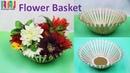 DIY Flower basket with ice cream stick flower vase chocolates Basket for Raksha bandhan gift