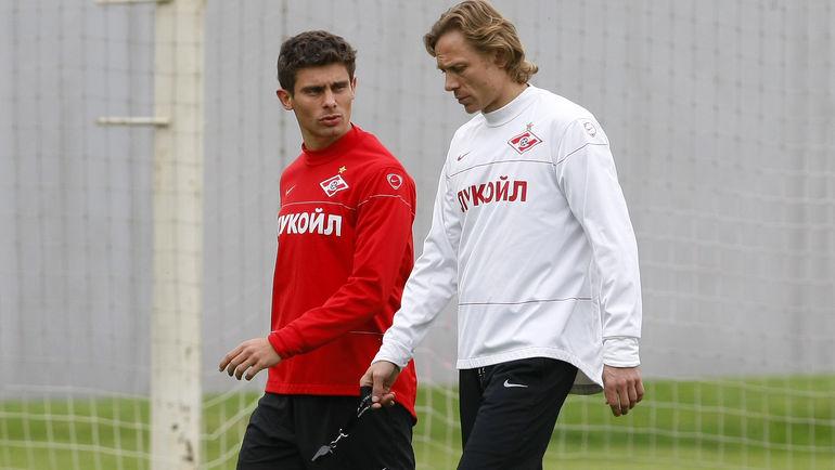 Алекс Мескини и Валерий Карпин