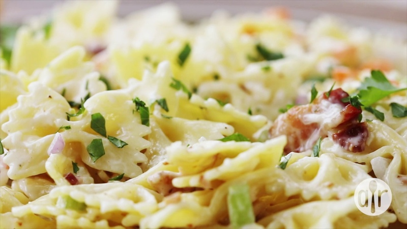 How to Make Ranch Bacon and Parmesan Pasta Salad Lunch Recipes