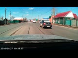 Момент аварии с такси (02.04.2019)