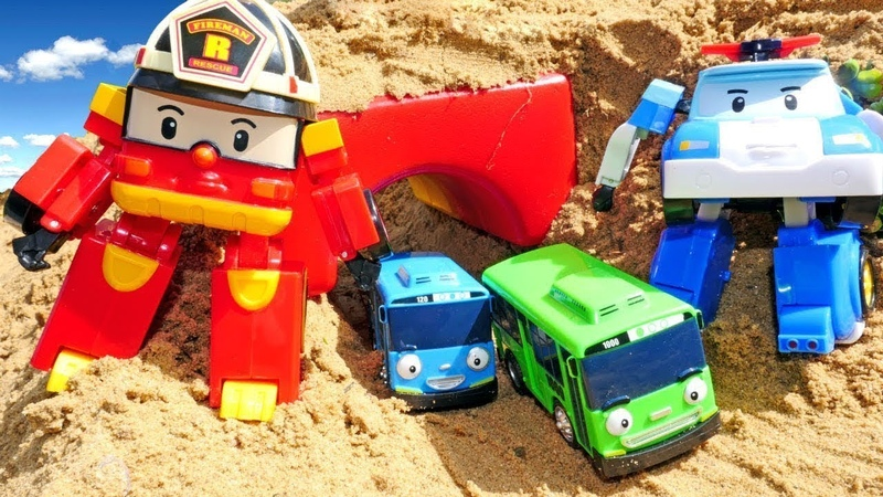 Giochi per bambini. Robocar Poli e le macchine nella città dei giocattoli. Le avventure di Tayo