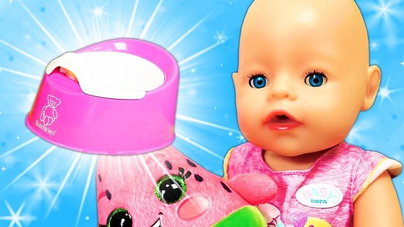 Funny baby doll potty training - Fun videos for kids