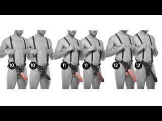 Страпон система от pipedream king cock hollow strap-on suspender system