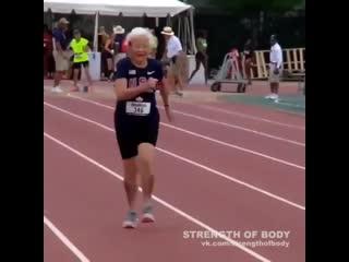 Strength of Body. 102-летняя бегунья Джулия Хокинс