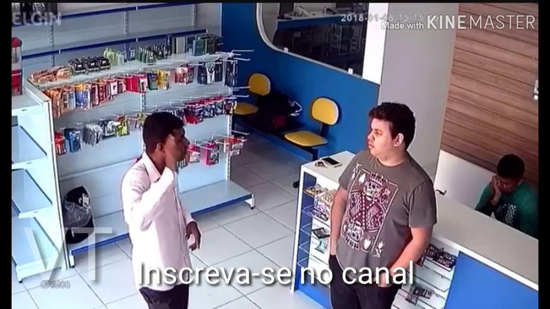 Ladrão foi roubar loja de celulares em Goiânia e se deu mal. Veja