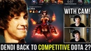 DENDI BACK TO COMPETITIVE DOTA SOON? EPIC Gameplay Compilation with Face Cam after One Month Break!