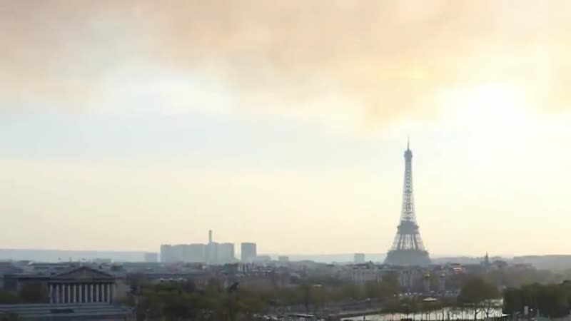 VIRAL UFO Uncloaking at Notre Dame Fire World Exclusive 1