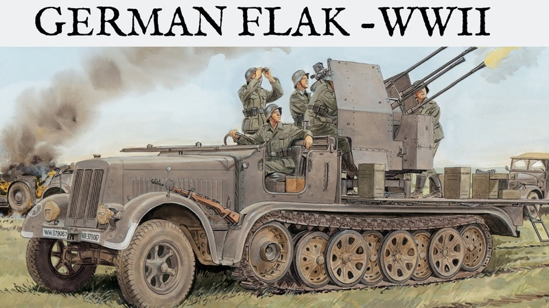 INTENSE FOOTAGE OF GERMAN FLAK - WW2 - HD AND SOUND