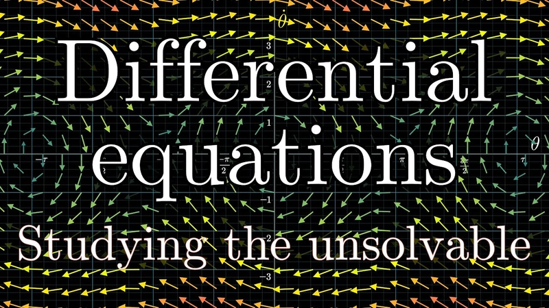 Overview of differential equations | Chapter 1