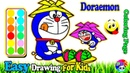 Doraemon Eat Food Coloring | Fun Painting For Toddlers And Drawing For Kids