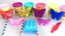 Готовим Разноцветное Мороженое и Учим Цвета на Английском Открываем Сюрприз-Коробочки