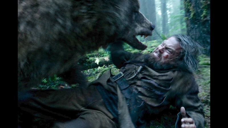 Bear attack scene from The Revenant