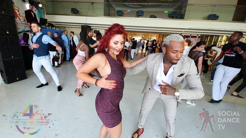 Yoandy Villaurrutia Sara Milan - Salsa social dancing | 4th World Stars Salsa Festival