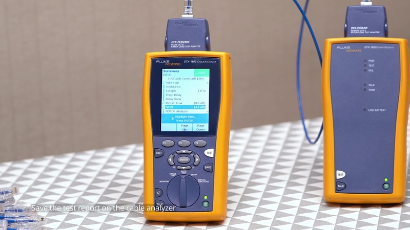 How to Test Copper Ethernet Network Cable Using Fluke Network Test