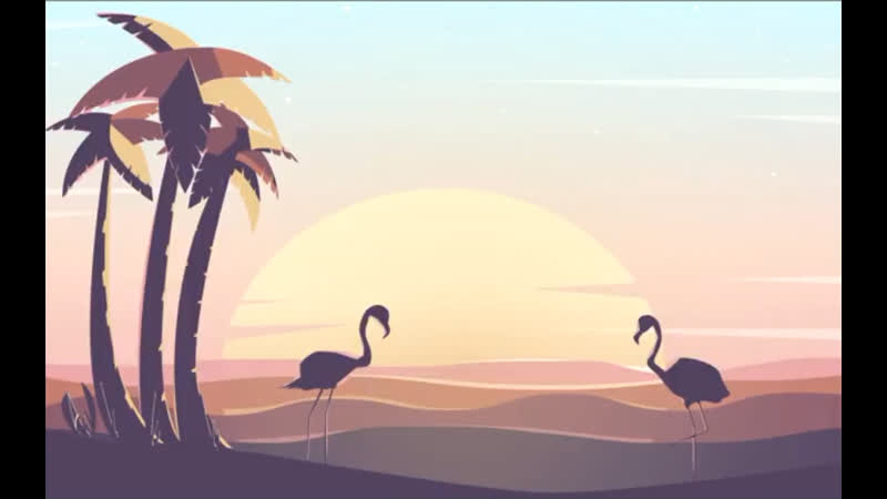 Sunset Scenery Artwork in Adobe Illustrator CC
