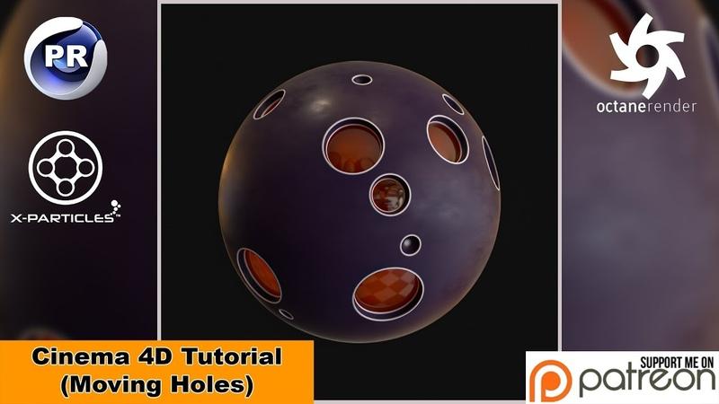 Moving Holes (Cinema 4D Tutorial)