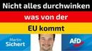 Martin Sichert (AfD) - Nicht alles durchwinken was von der EU kommt