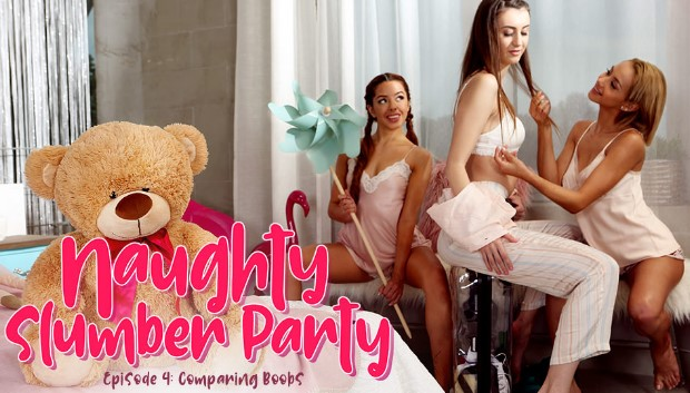 21Sextury - Naughty Slumber Party: Comparing Boobs