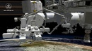 Animation of Dextre unloading and reloading Dragon's trunk