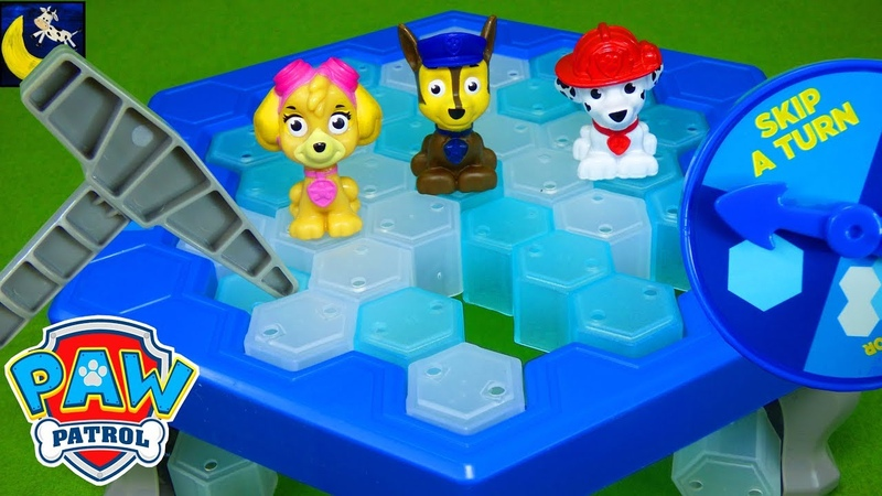 Paw Patrol Games Dont Drop Chase Dont Break the Ice Mini Pup Toys Chase Skye Marshall Kids Video