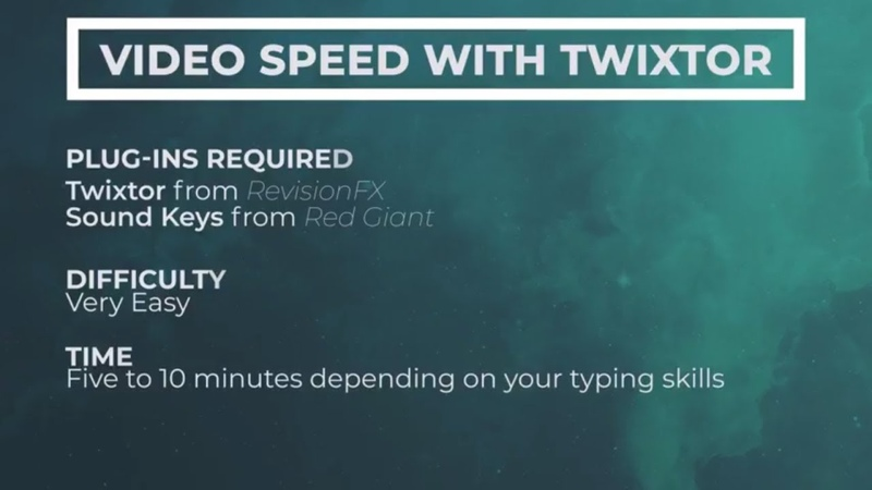 How to make music react to video Speed with Twixtor Plug in After Effects 2017