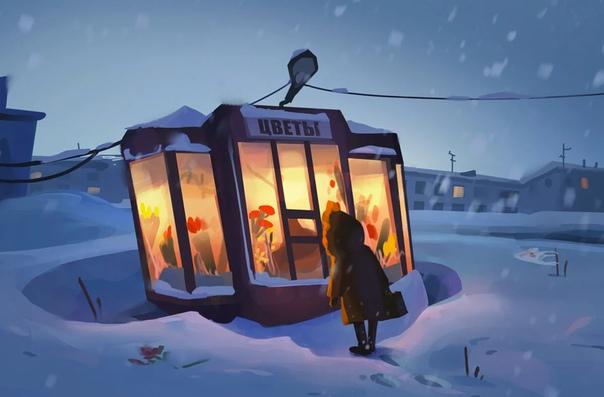Евгения Чернова - современный художник из Санкт-Петербурга. Она создала очень добрую и относительно социальную серию работ посвященную Российской реальности или