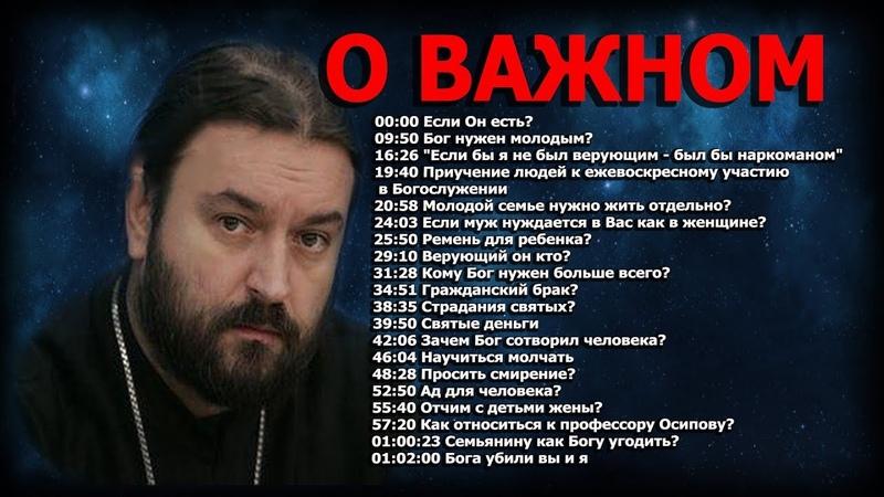Простые ответы на главные вопросы! Протоиерей Андрей Ткачёв