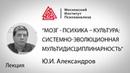 Лекция Ю.И.Александрова «Мозг - психика – культура системно-эволюционная мультидисциплинарность»