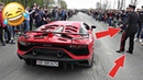 Supercars Leaving Cars Coffee Brescia 2019 | Crowd Goes CRAZY POLICE Officer!