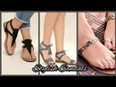 Comfortable and stylish flat sandals design for girls