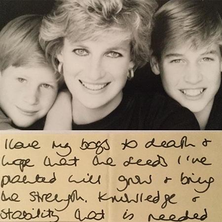 В сети появилось ранее не опубликованное письмо принцессы Дианы своим сыновьям, принцу Уильяму и принцу Гарри На днях бывший дворецкий покойной принцессы Дианы Пол Баррел поделился с
