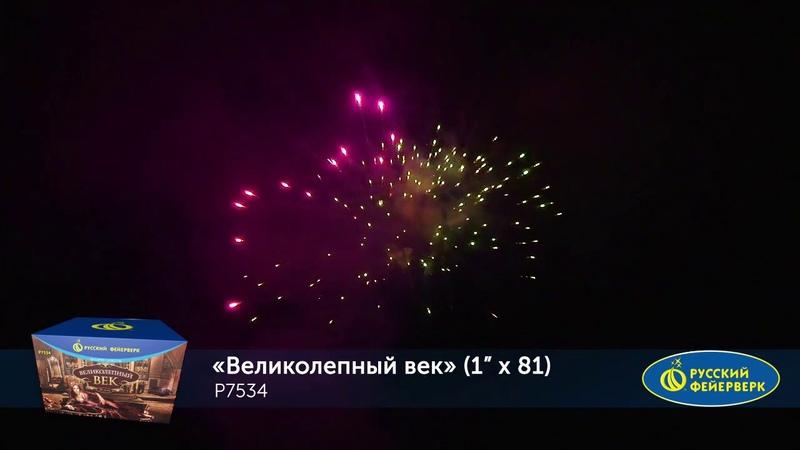 Батарея салютов Великолепный век Р7534 (1 х 81)