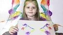 Необычное рисование с детьми Рисуем ниткой глитерными красками Чем занять ребенка