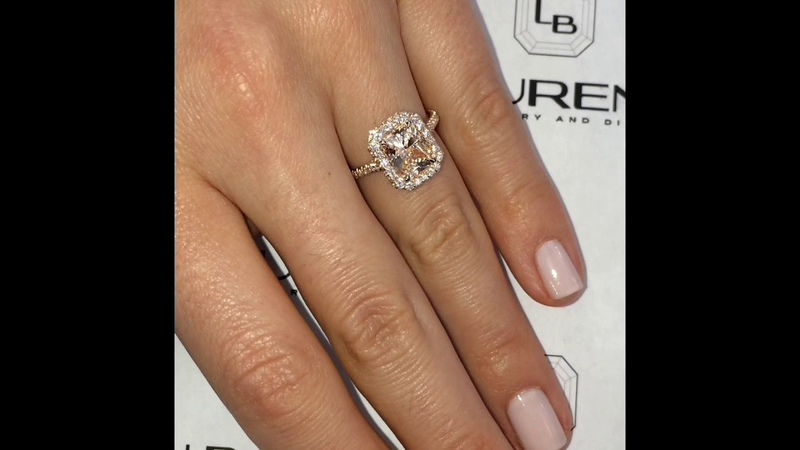 2.5 ct Radiant Cut Diamond Rose Gold Engagement Ring