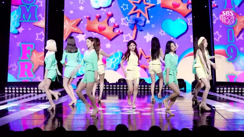 [안방1열 직캠4K] 프로미스나인 LOVE RUMPUMPUM' (fromis_9 Fancam)│@SBS Inkigayo_2019.7.21