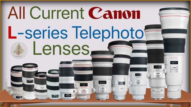 All Current Canon L-Series Telephoto lenses