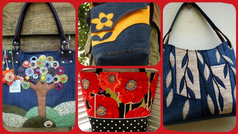 Latest stylish fabric beautiful handbag collection