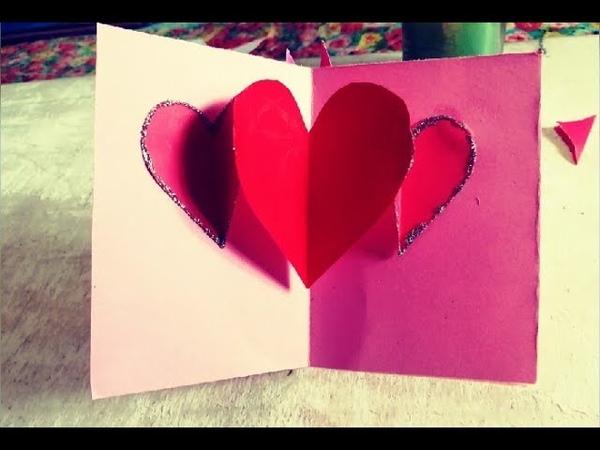 Cute Pop Up Card   Handmade Love Gift Card   Easy Paper Craft