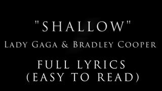 Shallow - Lady Gaga [Lyrics]