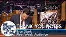 Thank You Notes: Bran Stark, Fleet Week Audience