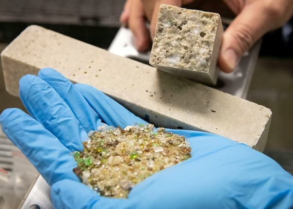 Старое стекло делает бетон более прочным и качественным