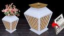 Newspaper flower vase flower vase making Best out of Waste Unique Idea