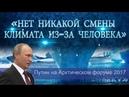 Нет никакой смены климата из за человека Путин на Арктическом форуме 2017