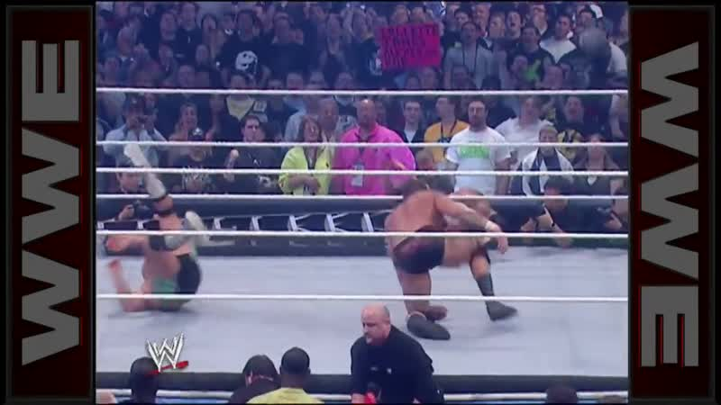 Randy Orton RKOs everyone in Money in the Bank - WrestleMania 23 [Crossface]