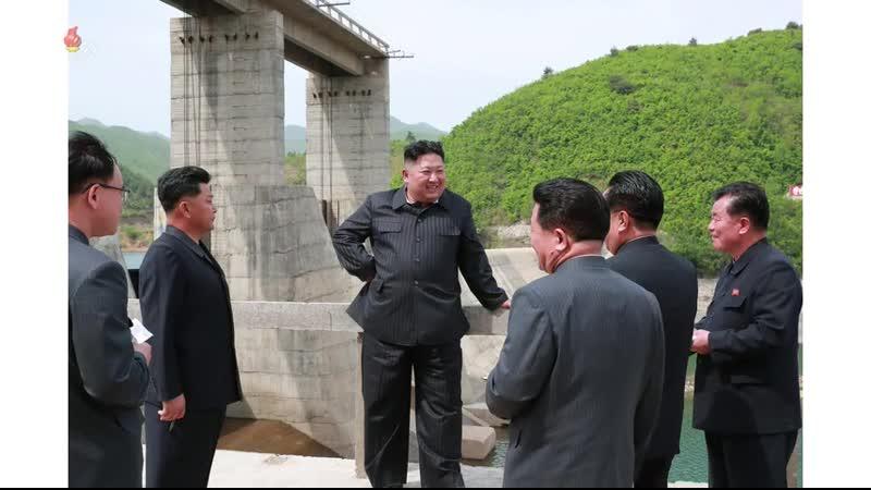 경애하는 최고령도자 김정은동지께서 금야강2호발전소를 현지지도하시였다