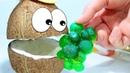 Песенка про Пальчики Мистер Кокос угадывает названия мармеладных фруктов