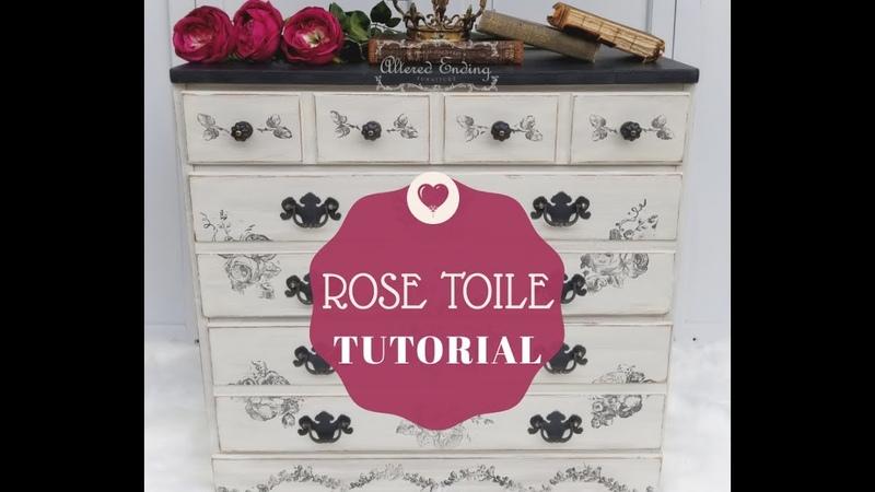 IOD Floral decor stamp tutorial