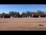 Торжественное прохождение войск Гатчинского гарнизона на плацу перед Дворцом