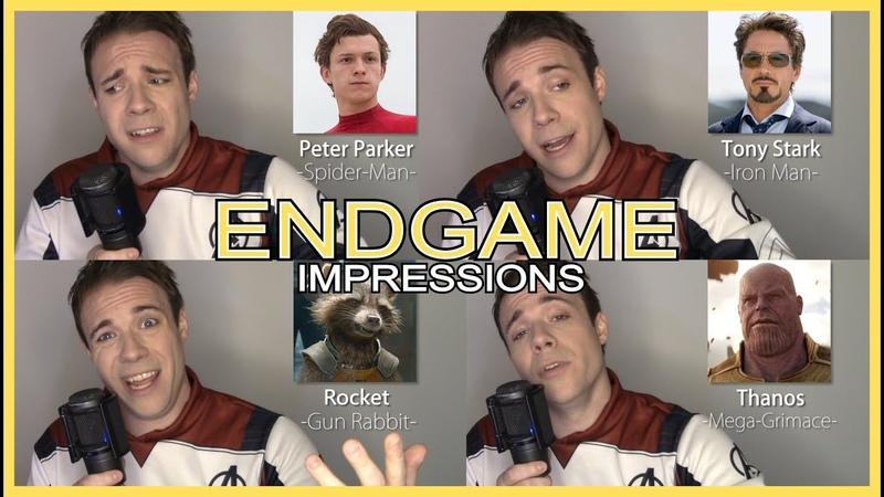 AVENGERS SING RADIOACTIVE!! (Endgame Impressions - Thor, Loki, Hulk, Black Panther, Spider Man)