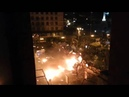 Ukraine Kiev BTR in flames storming barricades